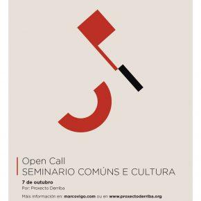 Open Call Seminario comúns e cultura